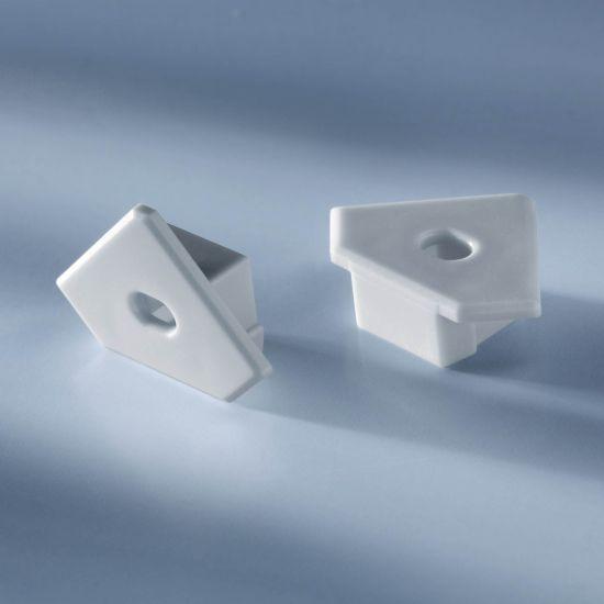 Tappo terminale aperto per profilo in alluminio Aluflex per angolo strisce LED 1020mm
