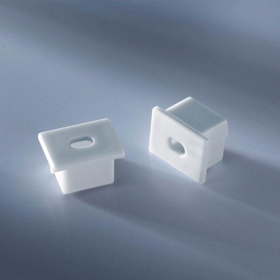 Tappo terminale aperto per profilo in alluminio Aluflex per strisce LED profonde 1020mm