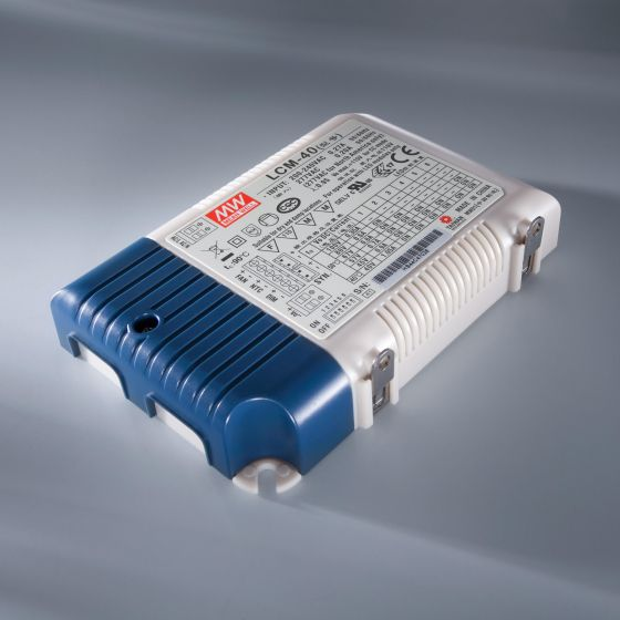 Driver LED a corrente costante MEAN WELL LCM-40 IP20 350 IP20 350 > 1050 mA 230V la 2 > 100VDC DIM