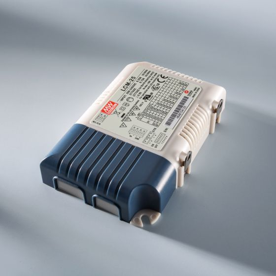 Driver LED a corrente costante MEAN WELL LCM-25 IP20 350 > 1050 mA 230V a 6 > 54VDC DIM
