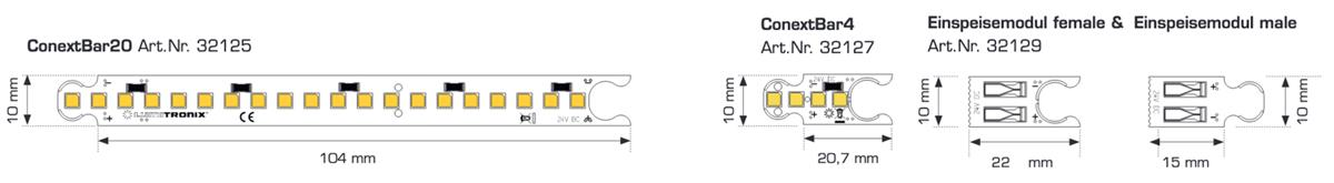 Modulo ConextBar LED bianco caldo CRI90