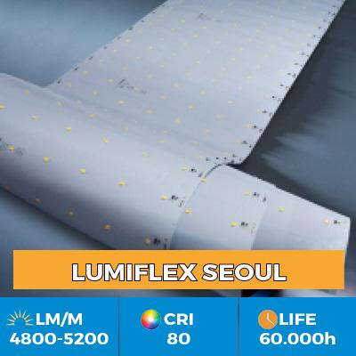 Strisce LED professionali Z-Flex Seoul, fino a 6200 lm per metro, in versione singola o multifila