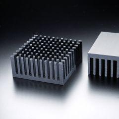 Dissipatore di calore quadrato 38x38mm per un LED ad alta potenza max. 2 Watt