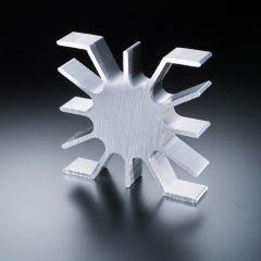 Dissipatore 51 x 51 per LED ad alta potenza max. 3 Watt