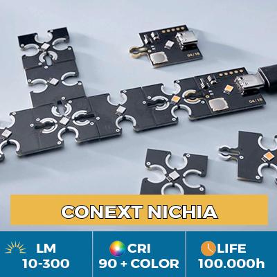 Moduli LED Conext professionali, Click & Play per la libertà di forma e colore