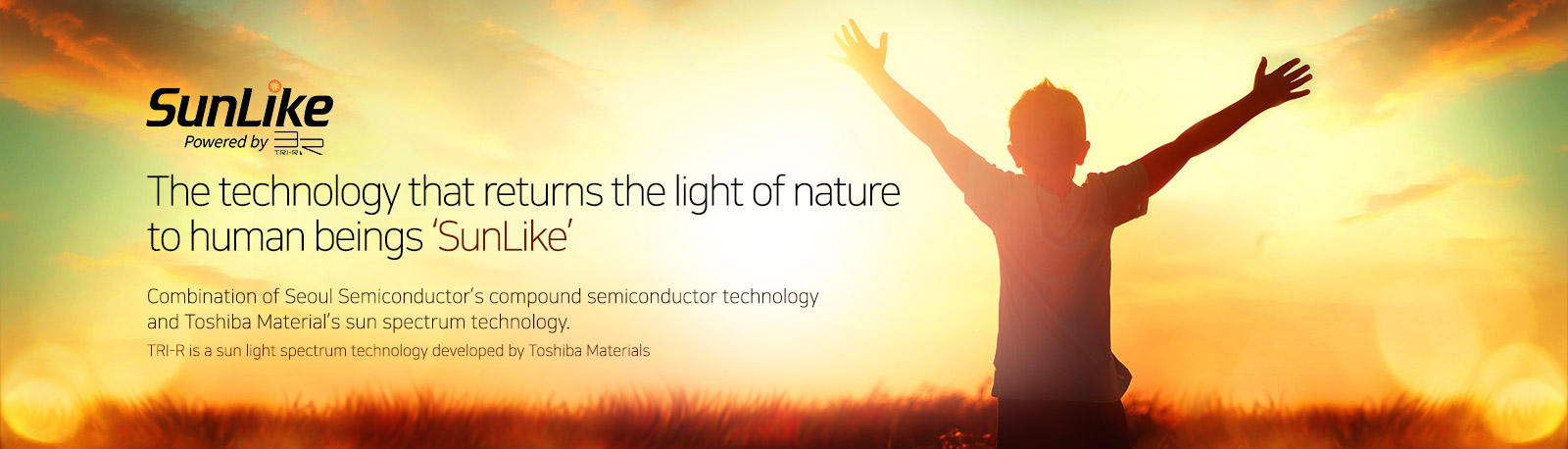 Tecnologia SunLike LED di Seoul Semiconductor e Toshiba