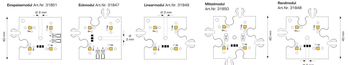 Modulo ConexMatrix 4 LED bianco caldo CRI90