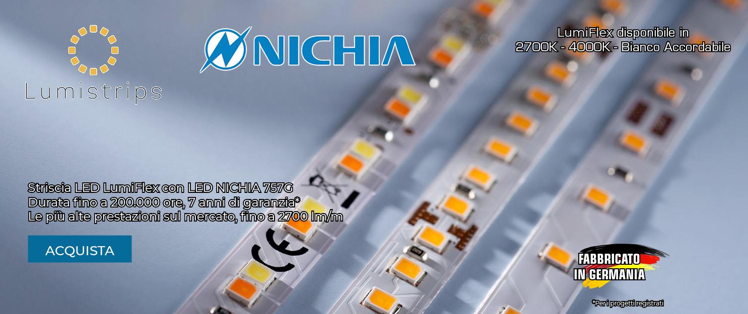 LumiFlex con LED NICHIA 757G 7 anni di garanzia