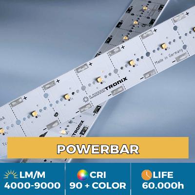 Moduli PowerBar professionali, fino a 11.000 lm/m, bianco, colore e luce UV