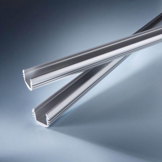 Profilo in alluminio Aluflex rotondo per strisce LED flessibili 102cm