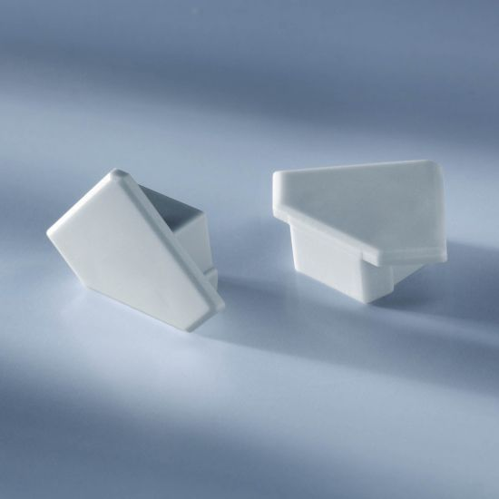 Tappo terminale chiuso per profilo in alluminio Aluflex per angolo strisce LED 1020mm