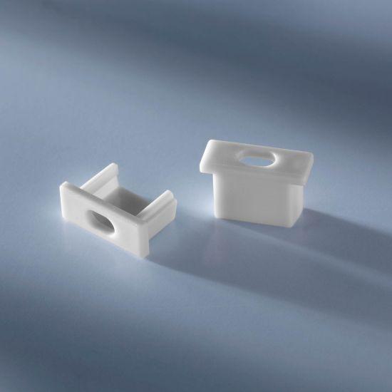 Tappo terminale aperto per profilo in alluminio Aluflex per strisce LED altezza bassa 1020mm