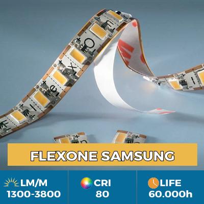 Strisce LED flessibili FlexOne, possono essere tagliate su ogni LED, potenza luminosa fino a 3800 lm / m