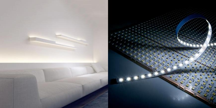 Strisce flessibili bianche accordabili e moduli con LED Nichia o SunLike