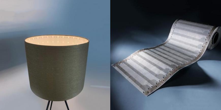 Strisce LED professionali in carta-flex Osram con larghezza di 35 cm e 3300 lm per metro quadrato. Si possono illuminare 9 metri quadrati in una sola volta!