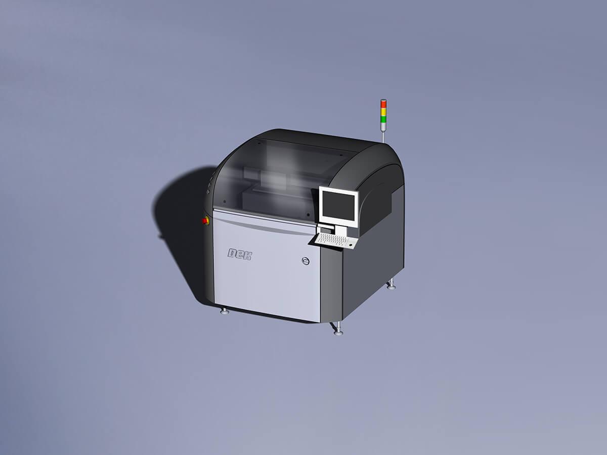 Solder paste printer Nichia production line